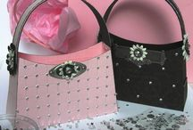 paper purse tote shoe wallets / by Linda Carter