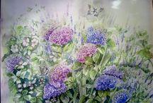 I MIEI DIPINTI : i fiori / I miei dipinti su seta sono acquerelli che giocano con la luce....