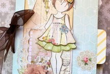 Scrapbooking Layout - Paper doll stamps