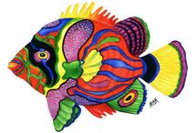 Craft Idea - Fish / I'm terrified of fish, but my kids are obsessed with them. So, we're planning on making some paper mache fish to hang from the ceiling in their room once we finish doing the wall hangings.