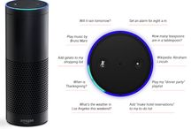 """Amazon Alexa Voice Devices and related accessories. / Amazon Alexa Voice Devices and related accessories.   What is the Amazon Echo: """"a voice command device from Amazon.com with functions including question answering, playing music and controlling smart devices."""" - Wikipedia See our Google+ Community on it at: http://bit.ly/amazonechocommunity and Facebook community at:  https://www.facebook.com/groups/AmazonEchoGroup/"""