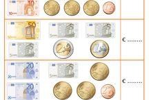 φύλλα εργασίας με τα ευρω