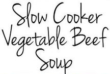 Vegetable beef soups