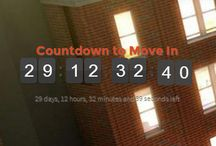 Countdown to move in! / It's almost time to move in! Here are some ways to help get you ready for the big move!