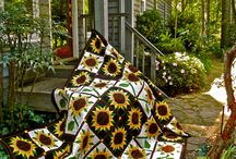 Quilts with sunflowers / Квилты с подсолнухами