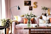 Painted walls and wallpaper