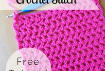 Filet stitch crochet