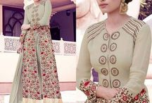 Embroidered Semi Stitched Salwar Suit