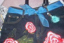 sac jean / creation sac avec un jeans