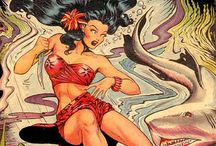"""Matt Baker / Clarence Matthew Baker (December 10, 1921 – August 11, 1959)[1] was an American comic book artist best known for the costumed crimefighter Phantom Lady. Baker was active as early as the 1930s and '40s Golden Age of comic books. He also penciled an early form of graphic novel, St. John Publications' digest-sized """"picture novel"""" It Rhymes with Lust (1950). His specialty was good girl art, a comics and cartooning sub-genre."""