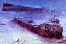 1975 Edmund Fitzgerald Shipwreck / On November 10, 1975, the Edmund Fitzgerald and its crew of 29 vanish during a storm on Lake Superior.  / by Margaret Martin
