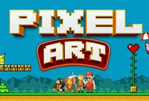 Pixel Art - Moldes / Moldes dos trabalhos que fiz no quadro Pixel Art