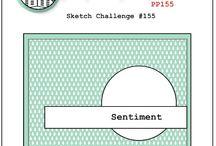 Scrap - Sketches cards / Sketch pour création de cartes