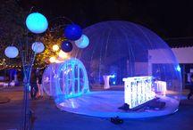 Igloo gonflabe platibubble, platigloo, bulle transparente, bulle magique