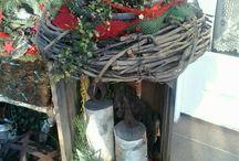 vanocni dekorace ven