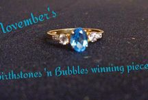 Birthstones 'n Bubbles winning jewelry / Each month, one lucky customer will find our 'Birthstones 'n Bubbles' prize piece in their soap. The prize is a higher value piece of jewelry with the current month's birthstone!