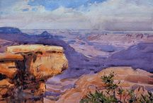 Watercolor paintings   Spike Ress / On location (plein air) and studio landscape paintings.