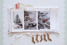 Christmas Layout Ideas & Inspiration / Page ideas for a scrapbook