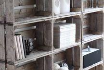 Möbel aus Obstkisten ★ Weinkisten / Du hast noch einige alte Obstkisten über? Bastle daraus Möbel im coolen Vintage-Stil! Oder nutze sie draußen für eine schöne Dekoration :-)