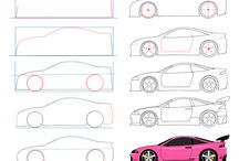 Drawing Tutorial : Vehicles / This one is super difficult for me T_T  . I think i need to use other references
