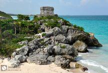 Tulum (Mexique) / La zone archéologique de Tulum est un lieu culturel emblématique de la Riviera Maya au Mexique.