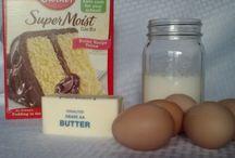 cake recipes / by Mary Morales