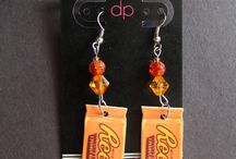 Food and candy earrings