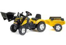 Zabawa w ogrodzie - traktorki / Bardzo trwałe, odporne na uderzenia pojazdy dla dzieci w różnym wieku, zapewnią wiele godzin wspaniałej zabawy! W naszej ofercie posiadamy traktorki, rowerki biegowe i motorki.