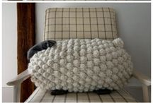 knitted toys, pillows and throws