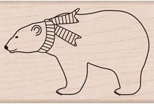 Bear stamps - Berenstempels