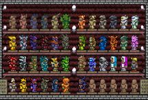 Terraria / I have got lots of NPC! hard armour