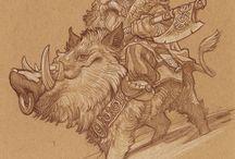 Воины рисунок