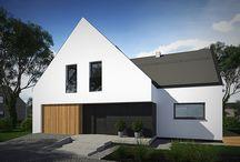 Dom jednorodzinny w Łodzi. / Projekt kolejnego domu jednorodzinnego w Łodzi wykonanego przez naszą pracownię został skończony. Zachęcamy do poznania projektu.