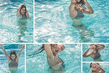 Fotos na praia/piscina