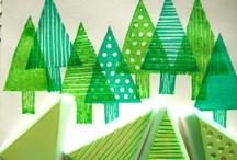 träden och skogen