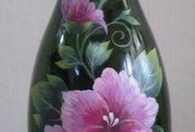 pintura garrafa vidro