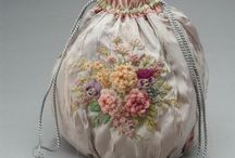 drawstring  bag  embroidery