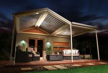 Stratco Outback Sunroof Patio / A sunroof patio gives you control over the elements! Let the light in or block it. Let the rain in or block it. With adjustable louvres you can choose how much or how little light/rain will come into your outdoor entertaining area. And with automatic rain sensors, you can relax knowing the louvres can close automatically if rain is detected! Sunroof patio with adjustable louvres are available in flat roof patio or gable roof patio design.