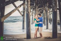 engagement photography: grant & diana / Grant and Diana met and fell in love in Seal Beach, California, so where better to do their engagement photos than in that very city? Seal Beach is one of my favorite beaches to shoot on in Southern California - I especially love to shoot under the pier pilings and on the lifeguard tower. We ended our session on Main Street, where Diana owns Bay Hardware.