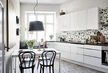 COCINAS / Decoración de cocinas. Estilos, objetos, lámparas, sillas y mesas...