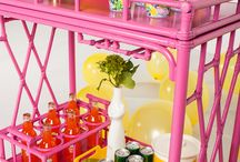 Darrin Steven's bar cart / Saaaaammmm! These bar carts would look in place in the Bewitched living room.