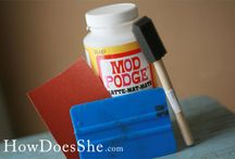 Mod Podge Projects / by Maria Del Pinto