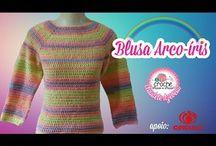 blusas em crochet