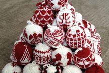 Knitting christmas