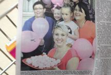 Pink ribbon breakfast may 2014 / My breast cancer breakfast in honour of my sister Leanne who passed away in November 2013 fro breast cancer x