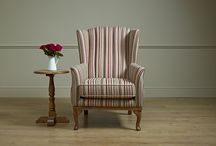 Blakeney Upholstery / Compact and stylish upholstery with a high channel back and tapered legs.