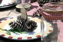 Rustic party table