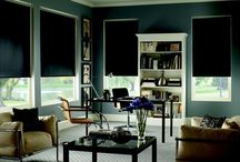 Living Room | Window Treatment Inspiration / Inspirations to help with selecting window treatments for the family room. Whether it be drapes, sheers, pelmet boxes, valances, roller or roman blinds.