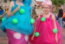 Optocht cupcakes / Twee cupcakepakken voor de optocht op Koningsdag  gemaakt.