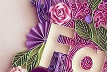 Quilling: Letters